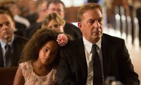 Jillian Estell and Kevin Costner in 'Black and White'