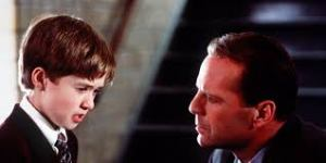 Osment and Bruce Willis from 'The Sixth Sense'