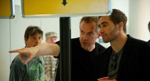 Jean-Marc Vallée and Jake Gyllenhaal on the set of 'Demolition'